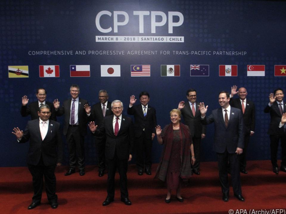 CPTPP trat 2018 in Kraft