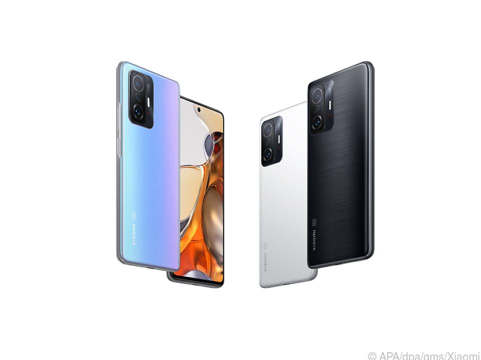 Das neue Xiaomi 11T Pro (ab 650 Euro) ist in Blau, Weiß und Grau-Schwarz zu haben
