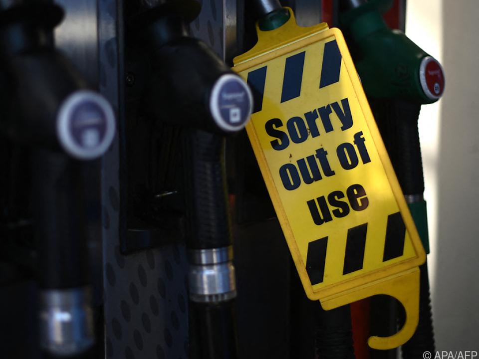 Den Tankstellen geht der Kraftstoff aus