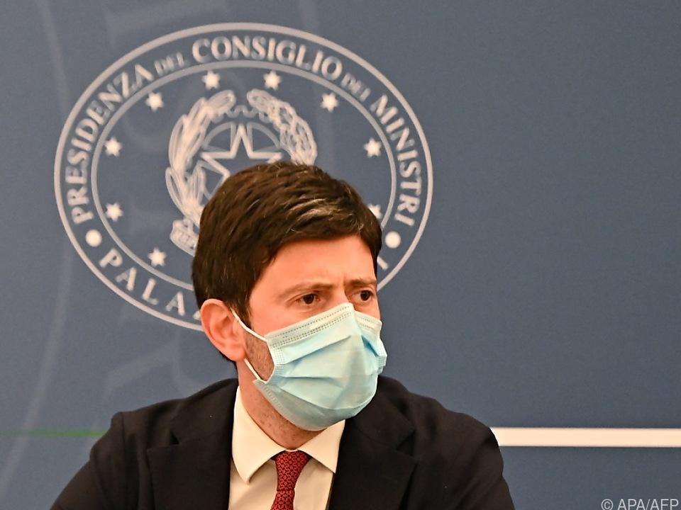 Der italienische Gesundheitsminister Roberto Speranz