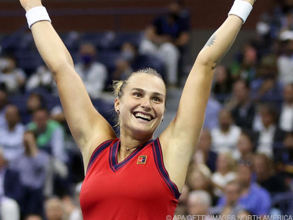 Die Belarussin freut sich über Einzug ins Halbfinale