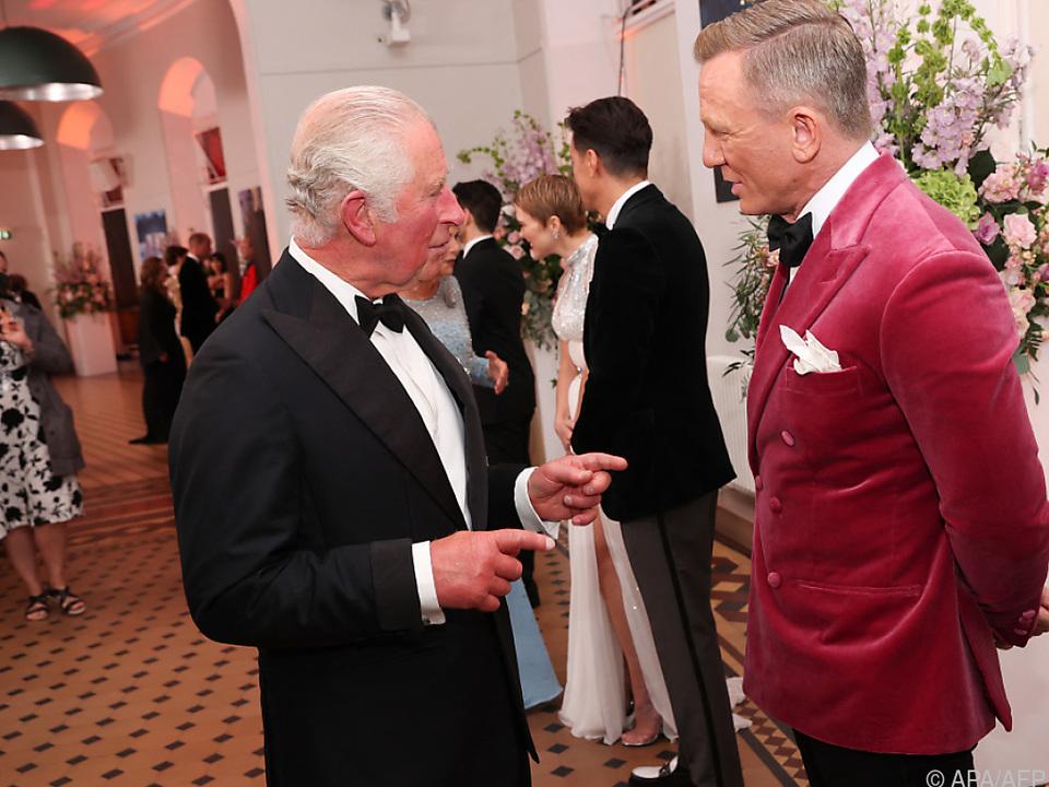 Die britische Royals kamen zur Erstaufführung des letzten Craig-Bond