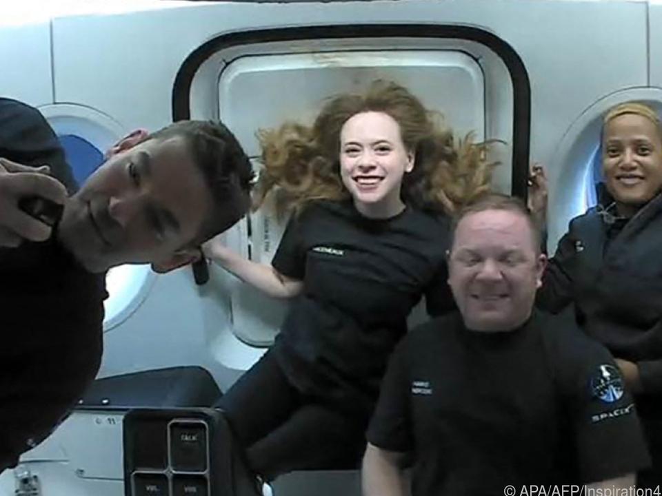 Die Crew ist happy