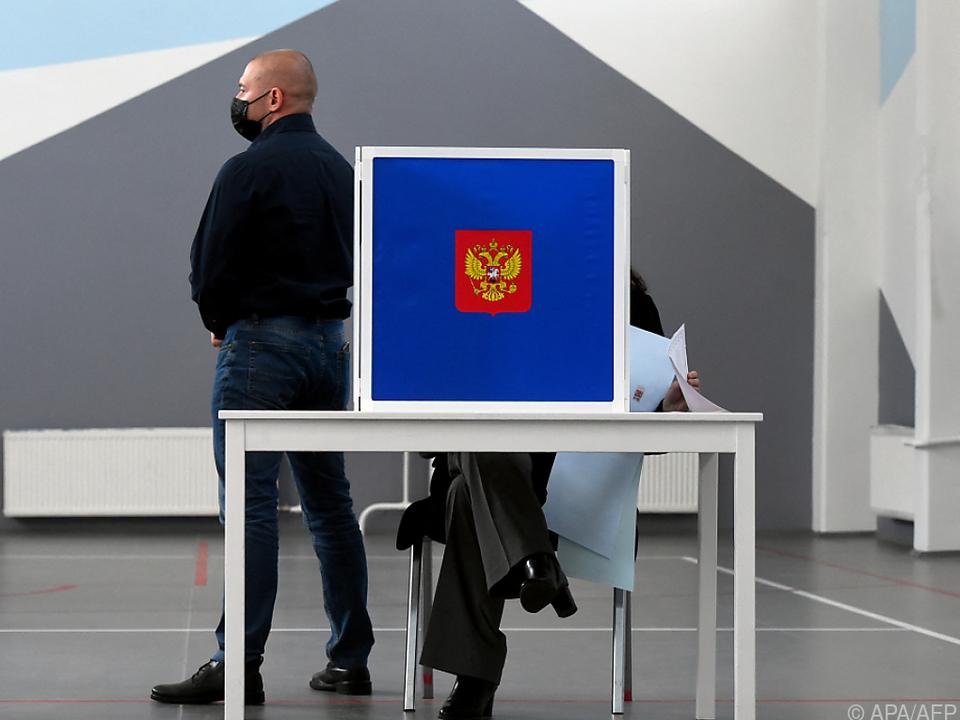 Die Kremlpartei kam nach ersten Hochrechnungen auf ca. 42 Prozent