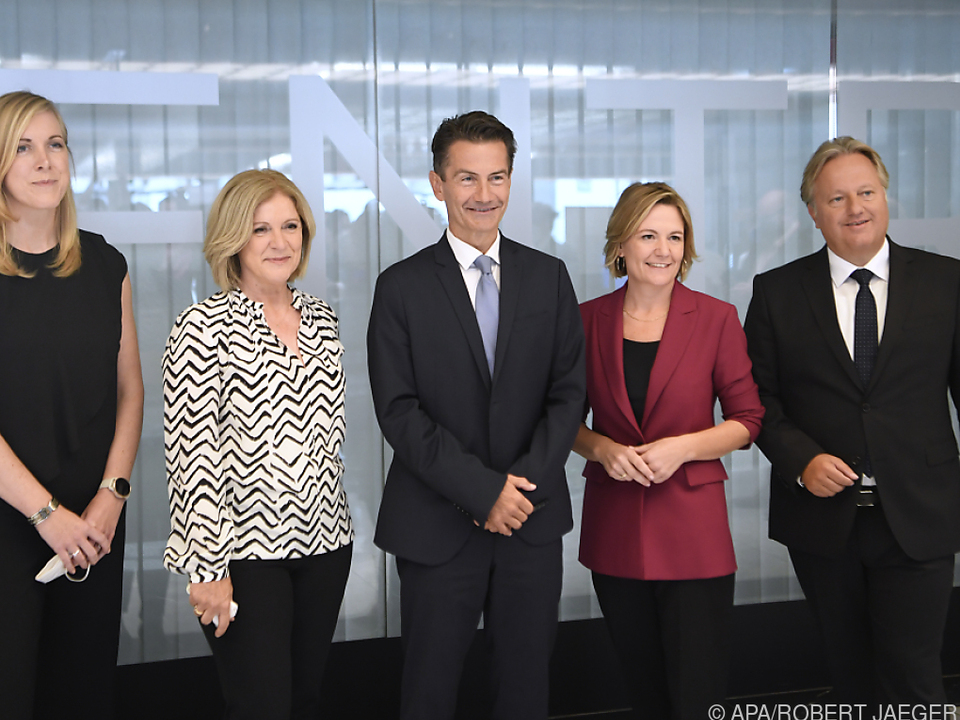 Die vier Landesdirektorinnen und -direktoren mit Weißmann