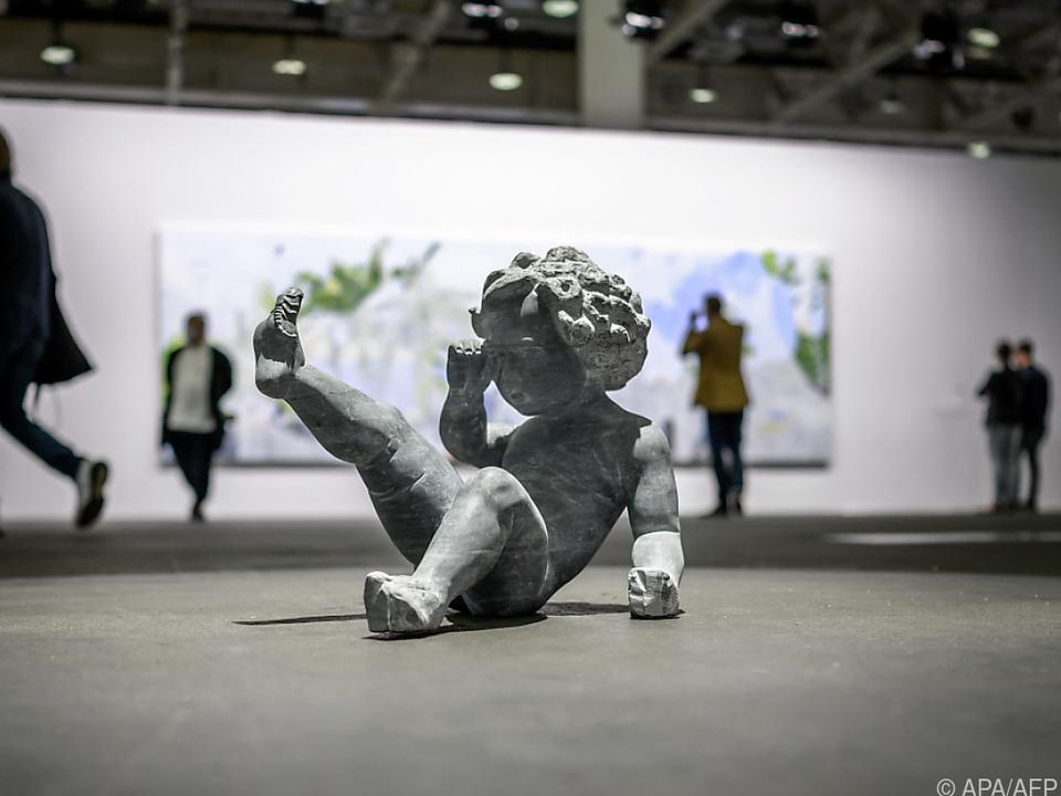 Ein Werk von Enzo Cucchi auf der Art Basel
