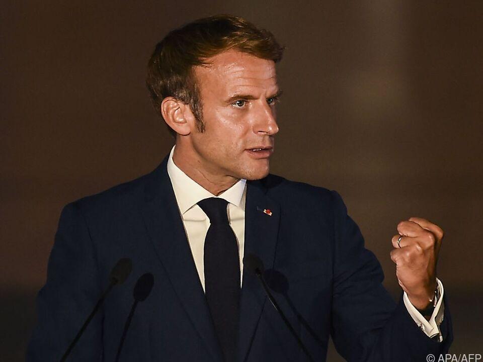 Emmanuel Macron ist verstimmt