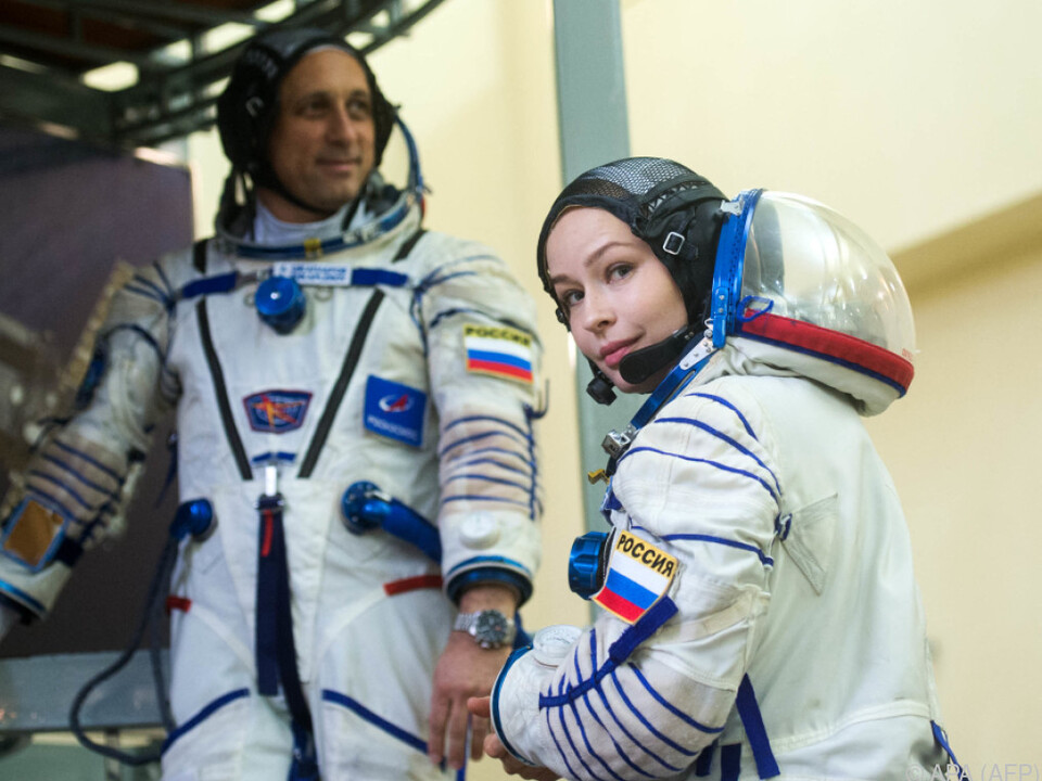 Filmcrew soll am Dienstag zur ISS fliegen