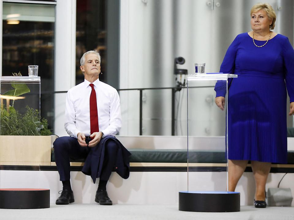Gahr Störe in Warteposition auf das Premiers-Amt, Solberg tritt ab