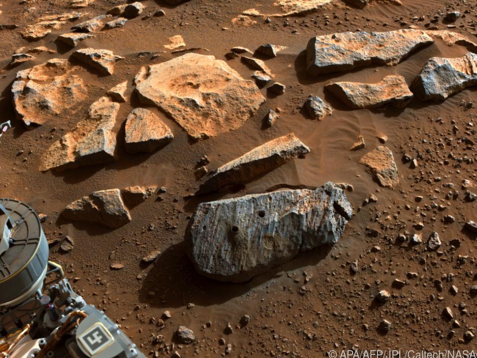 Gesteinsproben wurden untersucht