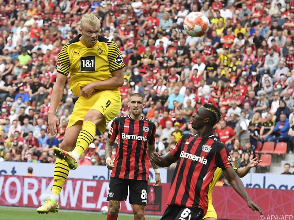 Haaland traf für Dortmund in Leverkusen