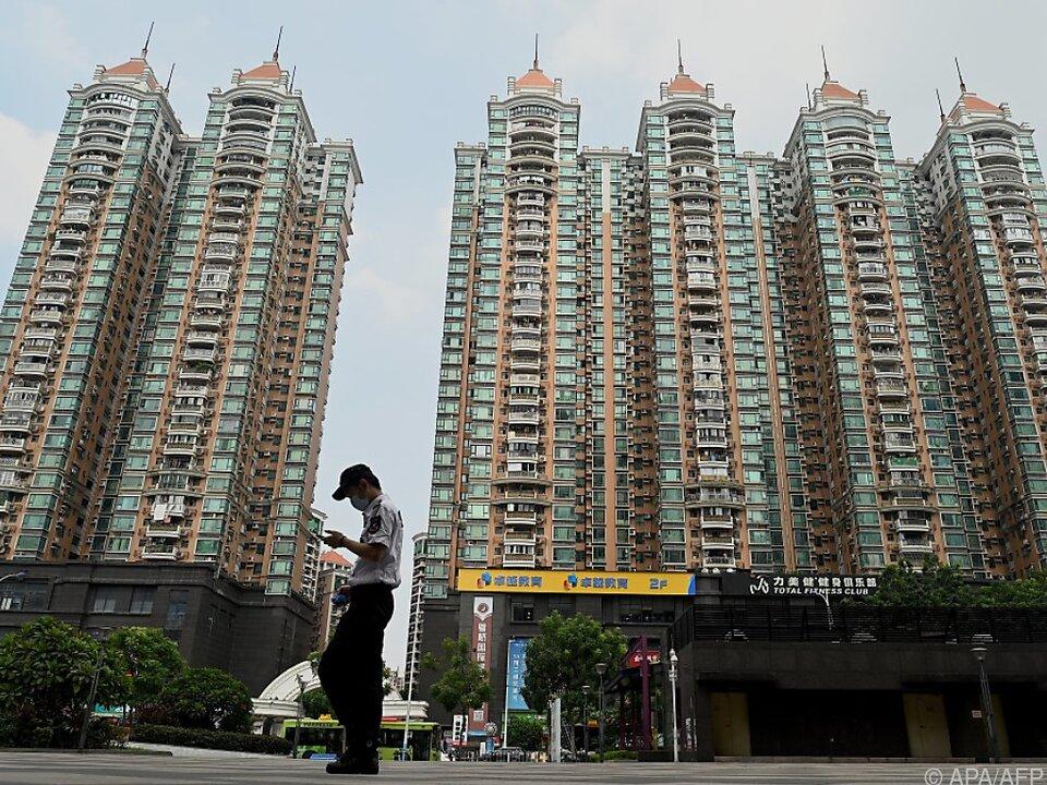 Häuserkomplex von Evergrande in Guangzhou