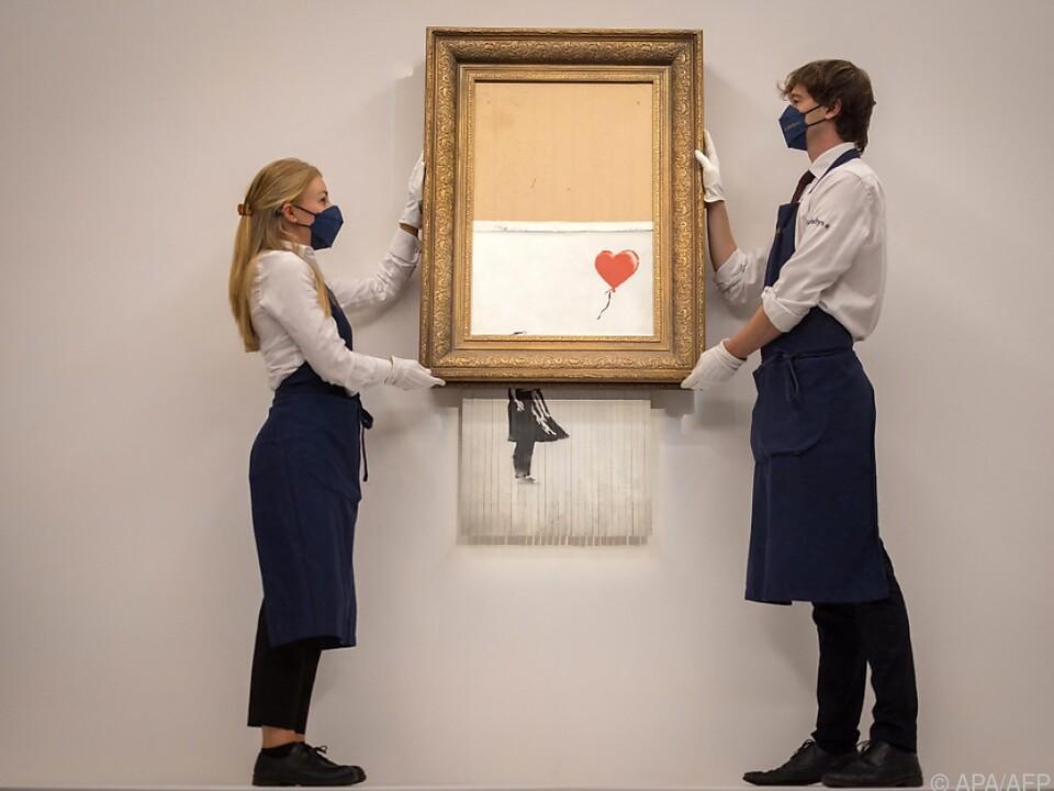Halbwegs zerstört ist Banksys Kunst noch viel mehr wert