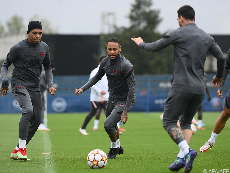 Im Training waren Mbappe, Neymar und Messi wieder vereint