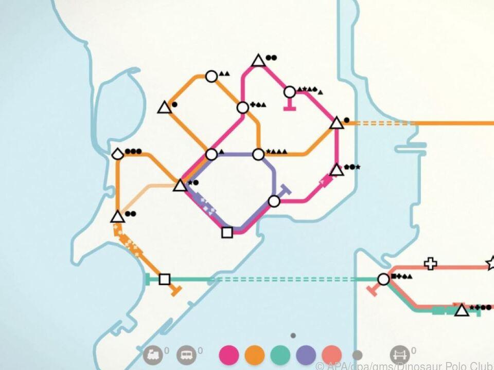 Die Linien auf der Halbinsel und die auf dem Festland müssen schlau verbunden werden