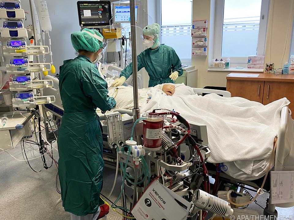 Intensivstationen in Österreich füllen sich langsam wieder