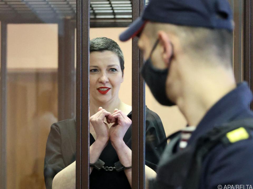 Kolesnikova bei ihrer Verurteilung
