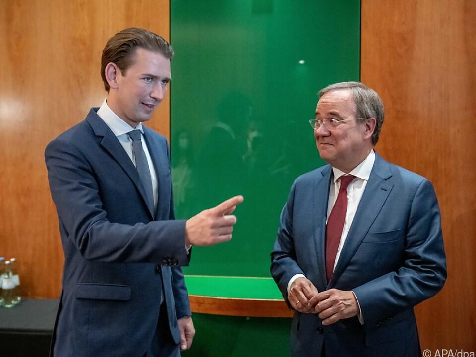 Kurz ist von deutschem Kanzlerkandidaten Laschet \