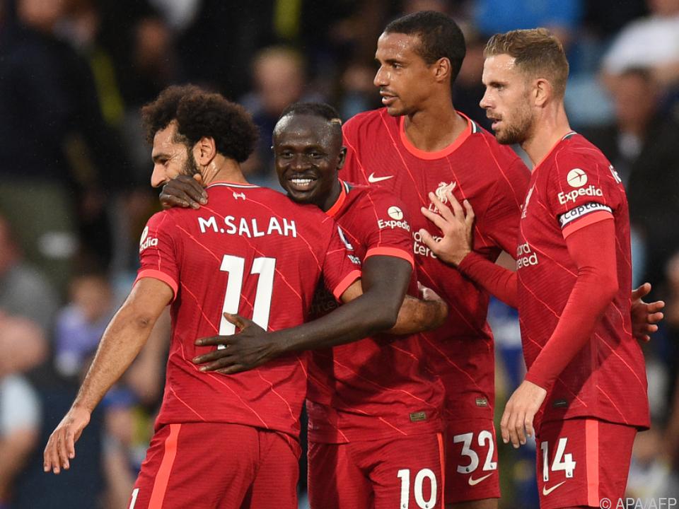 Liverpool bleibt mit Sieg gegen Leeds vorne dabei