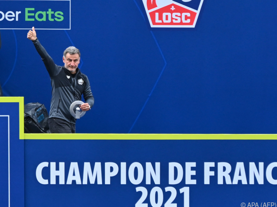 Machte die Sensation wahr: Lilles Ex-Coach Christophe Galtier