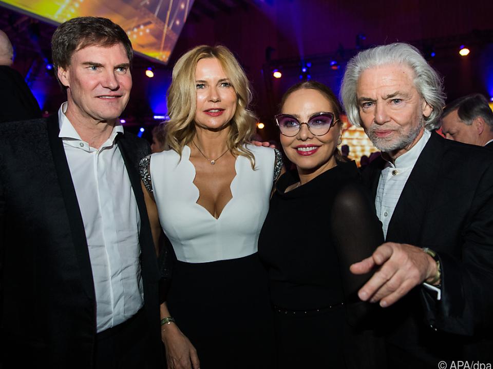 Maschmeyer mit Veronica Ferres, Ornella Muti und Hermann Bühlbecker