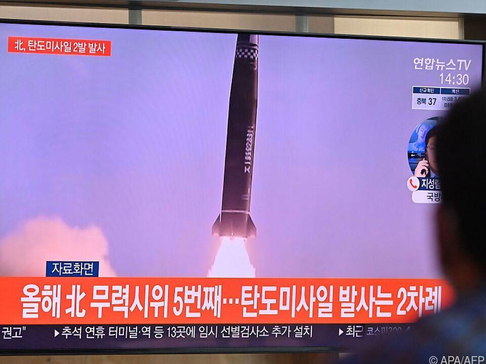 Nordkorea feuerte Kurzstreckenraketen in Richtung offenes Meer