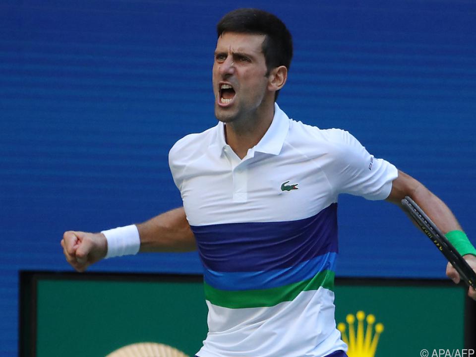 Novak Djokovic hatte wieder einmal Grund zum Jubeln