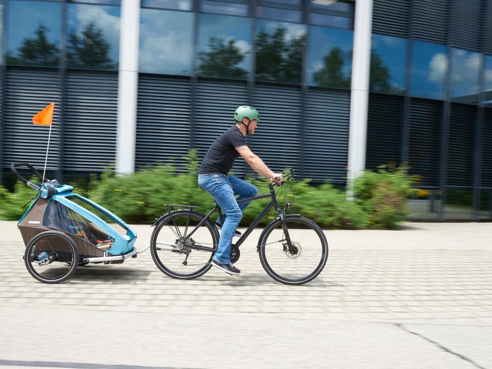 ÖAMTC-Kinderbeförderung am Fahrrad
