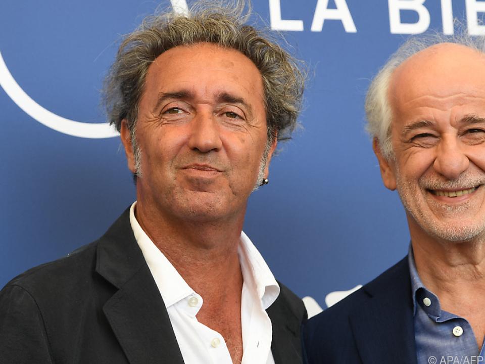 Oscarpreisträger Paolo Sorrentino (li.) mit Schauspieler Toni Servillo