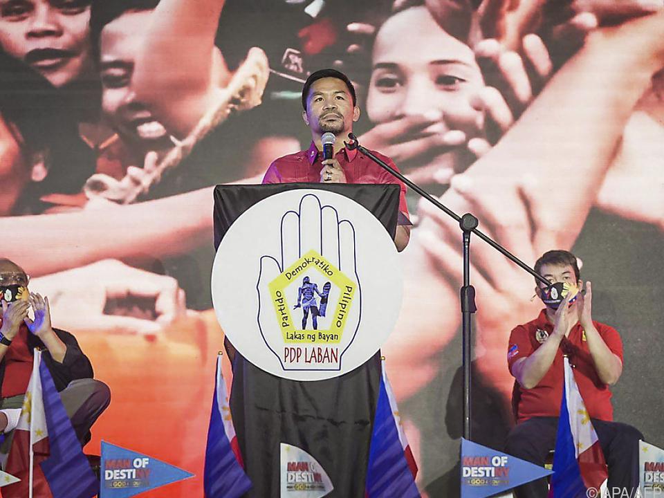 Pacquiao widmet sich nun ganz der Politik