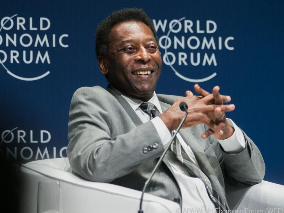 Pele sprach 2018 beim Weltwirtschaftsforum für Lateinamerika