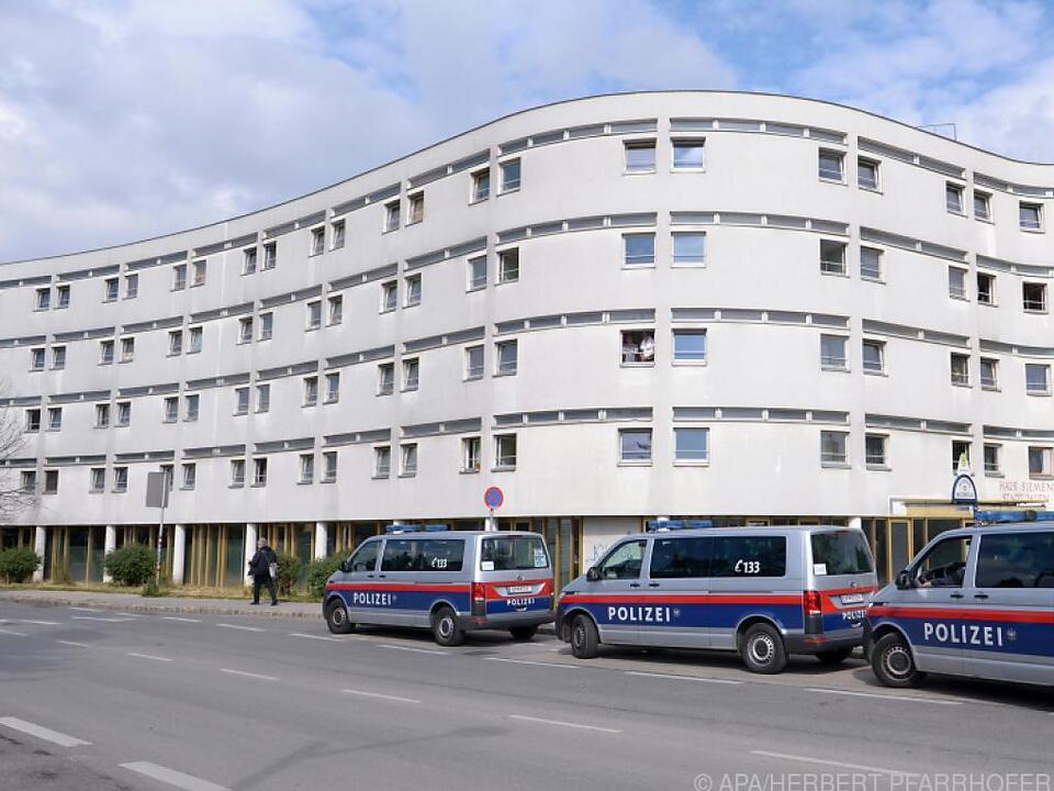 Polizei war mit einem Großaufgebot vor Ort