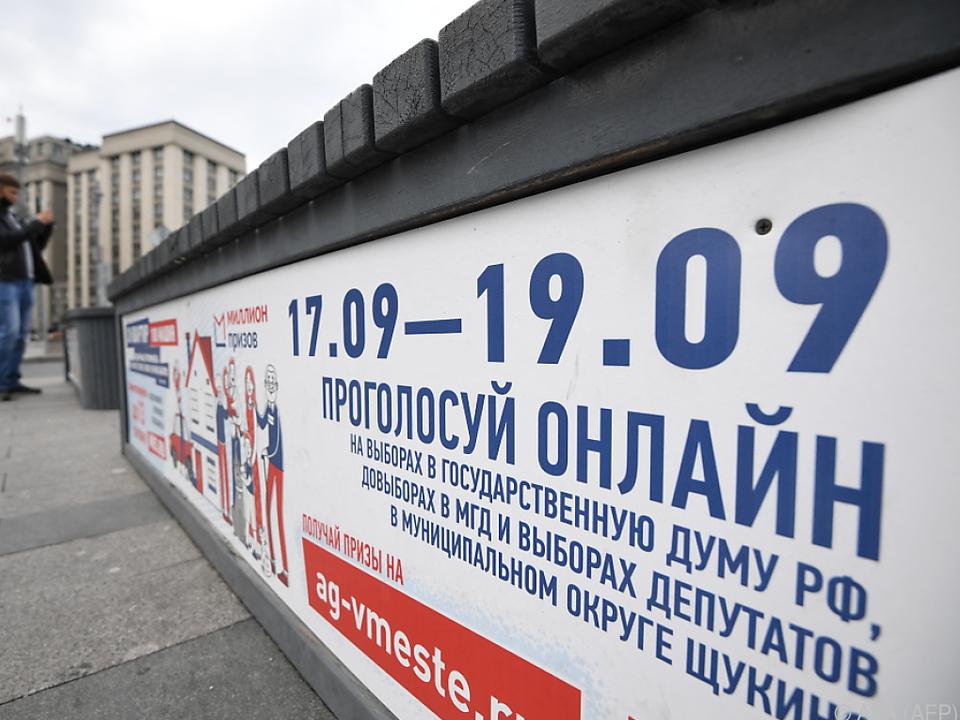 Russland wählt am Wochenende
