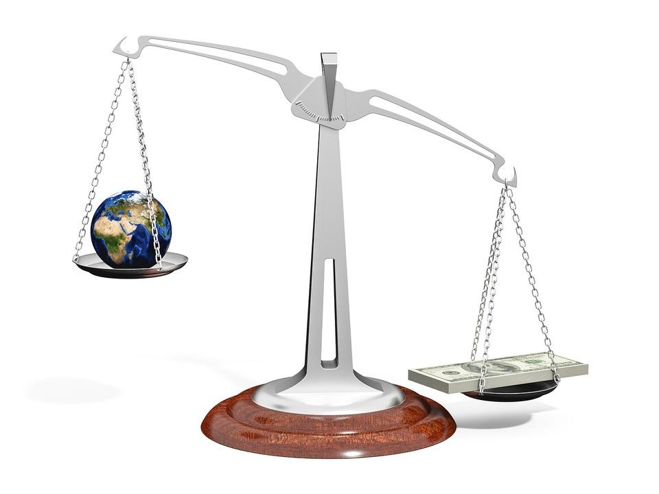 Umwelt Geld Balance
