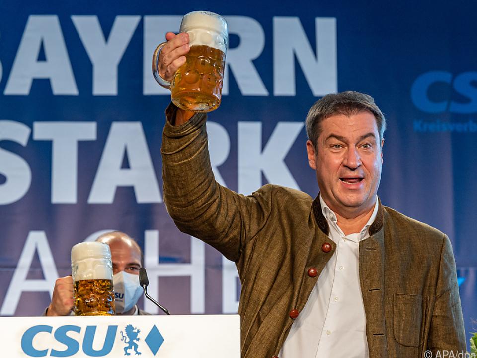 Söder nutzt Volksfeste für Wahlwerbung