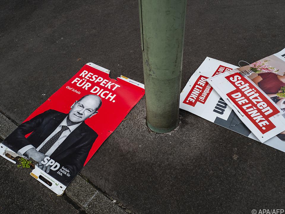 SPD laut Umfragen vor Bundestagswahl vor CDU/CSU auf Platz 1