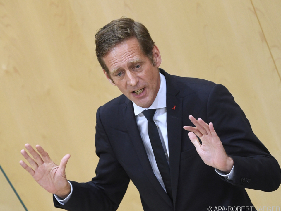 SPÖ-Frakionsführer im U-Ausschuss Jan Krainer im Plenum