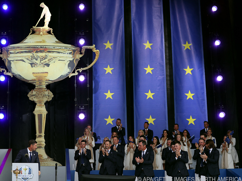 Team Europe bei der Eröffnung des 43. Ryder Cups in Wisconsin