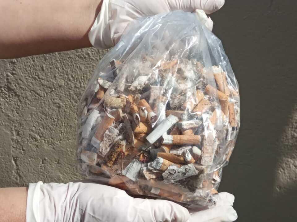 Uber 600 Zigarettenstummel gesammelt_World Cleanup Day Terlan