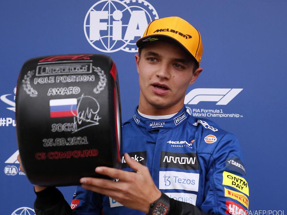 Überraschungs-Pole für McLaren-Pilot Norris in Sotschi