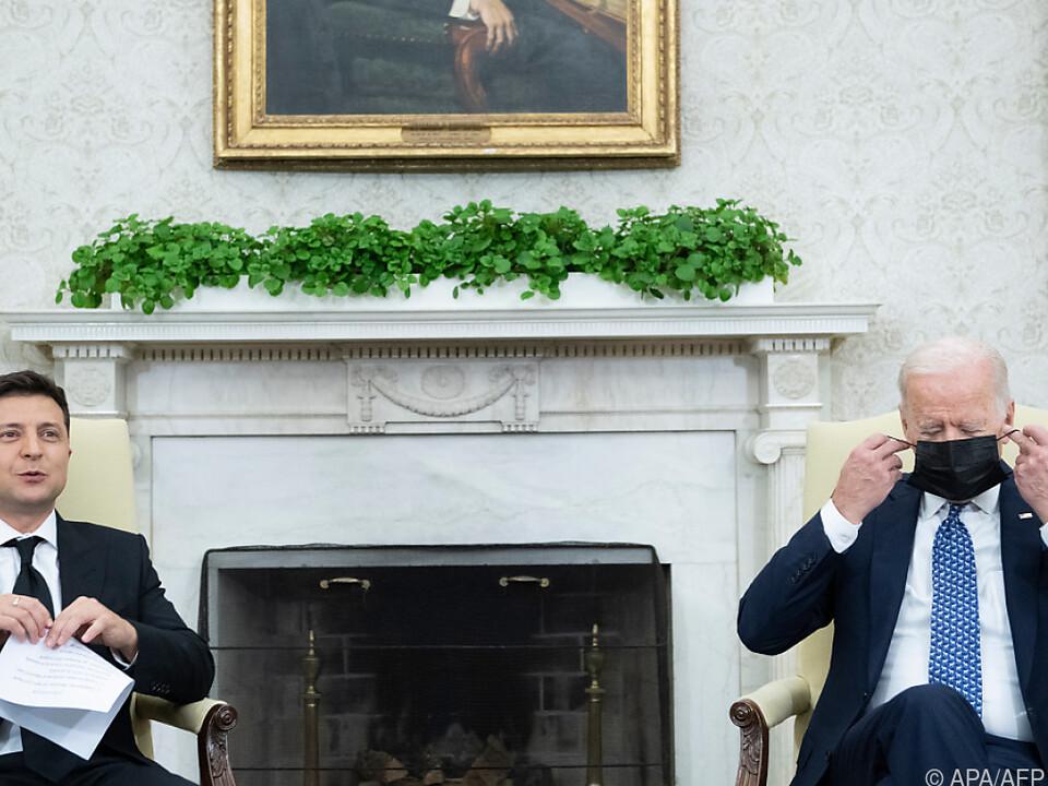 US-Präsident Biden traf Amtskollegen Selenskyj