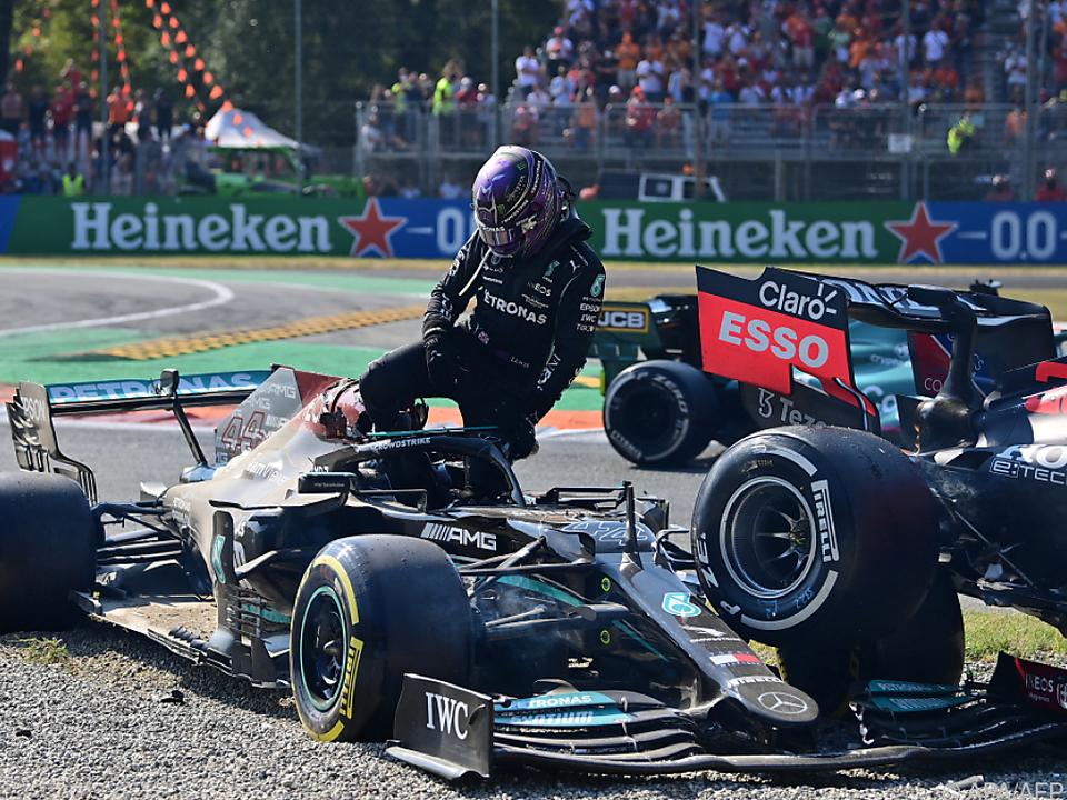 Verstappen und Hamilton kollidierten in Monza spektakulär