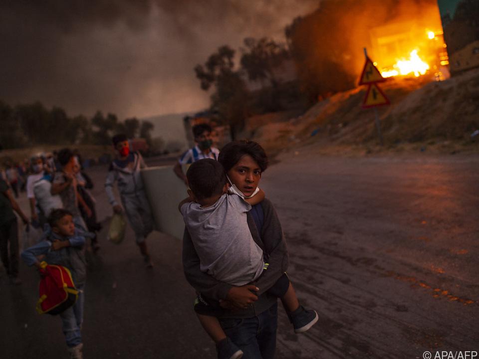 Vor einem Jahr brannte das Flüchtlingslager Moria