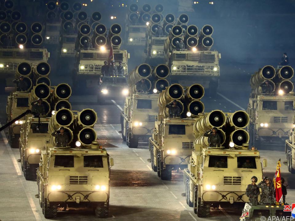 Zuletzt hatte Nordkorea im Jänner eine Militärparade abgehalten