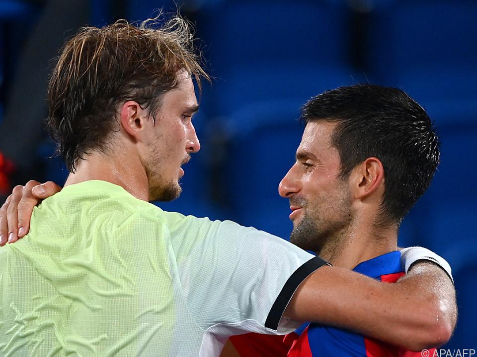 Zverv und Djokovic treffen wie in Tokio aufeinander