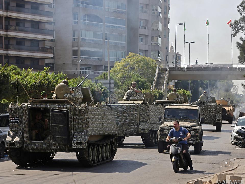 Aufmarsch der Armee in Beirut