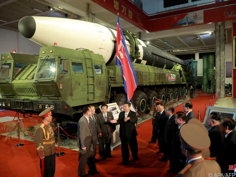 Auftakt zur nordkoreanischen Messe für Verteidigungsentwicklung