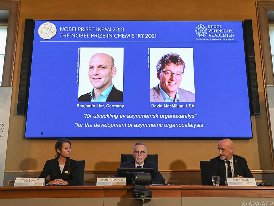 Benjamin List und David MacMillan entwickelten neue Katalysatoren