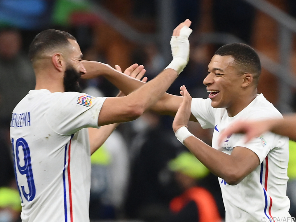 Benzema und Mbappe trafen für den Weltmeister