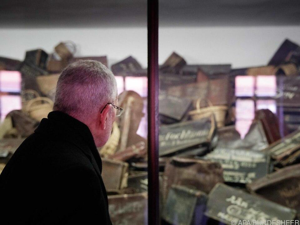 Bundespräsident Van der Bellen in Auschwitz im Jänner 2020